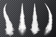 Ρεαλιστικά ίχνη συμπύκνωσης αεροπλάνων Καπνός από την έναρξη αεριωθούμενων αεροπλάνων ή πυραύλων Σύνολο καπνού contrails απεικόνιση αποθεμάτων