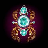 Ρεαλιστικά σκουλαρίκια ή εξαρτήματα κοσμήματος περιδεραίων κρεμαστών κοσμημάτων Χρυσός Στοκ φωτογραφίες με δικαίωμα ελεύθερης χρήσης
