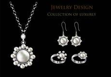 Ρεαλιστικά σκουλαρίκια ή εξαρτήματα κοσμήματος περιδεραίων κρεμαστών κοσμημάτων Χρυσός Στοκ Εικόνα