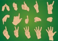 Ρεαλιστικά χέρια σχεδίων απεικόνιση αποθεμάτων