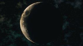 Ρεαλιστικές φάσεις φεγγαριών μέσω του ημισεληνοειδούς σεληνιακού κύκλου απεικόνιση αποθεμάτων