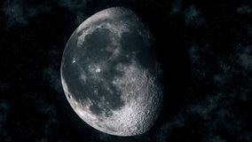 Ρεαλιστικές φάσεις φεγγαριών μέσω του κυρτού σεληνιακού κύκλου ελεύθερη απεικόνιση δικαιώματος
