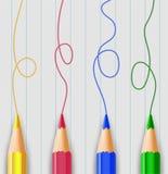 Ρεαλιστική απεικόνιση μολυβιών απεικόνιση αποθεμάτων