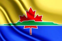 Ρεαλιστική απεικόνιση σημαιών κόλπων βροντής ελεύθερη απεικόνιση δικαιώματος