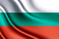 Ρεαλιστική απεικόνιση σημαιών της Βουλγαρίας διανυσματική απεικόνιση