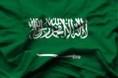 Ρεαλιστική απεικόνιση σημαιών της Σαουδικής Αραβίας απεικόνιση αποθεμάτων