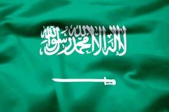 Ρεαλιστική απεικόνιση σημαιών της Σαουδικής Αραβίας ελεύθερη απεικόνιση δικαιώματος