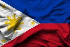 Ρεαλιστική απεικόνιση σημαιών των Φιλιππινών απεικόνιση αποθεμάτων