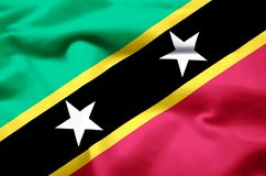 Ρεαλιστική απεικόνιση σημαιών St. Kitts and Nevis ελεύθερη απεικόνιση δικαιώματος