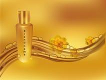 Ρεαλιστική διανυσματική illustration EAU de parfum Έμβλημα για την πώληση r Όμορφο διαφημιστικό EAU de Parfum διανυσματική απεικόνιση