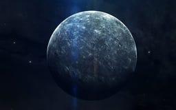 Ρεαλιστική εικόνα του υδραργύρου, πλανήτης του ηλιακού συστήματος Εκπαιδευτική εικόνα Στοιχεία αυτής της εικόνας που εφοδιάζεται  Στοκ εικόνα με δικαίωμα ελεύθερης χρήσης