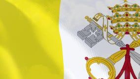 Ρεαλιστική ζωτικότητα σημαιών Βατικάνου απεικόνιση αποθεμάτων