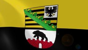 Ρεαλιστική ζωτικότητα σημαιών Σαξωνία-Anhalt διανυσματική απεικόνιση