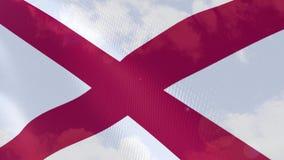 Ρεαλιστική ζωτικότητα σημαιών της Αλαμπάμα διανυσματική απεικόνιση