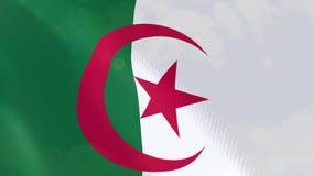 Ρεαλιστική ζωτικότητα σημαιών της Αλγερίας απεικόνιση αποθεμάτων