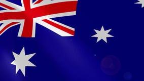 Ρεαλιστική ζωτικότητα σημαιών της Αυστραλίας ελεύθερη απεικόνιση δικαιώματος