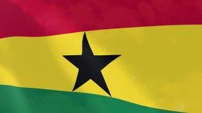Ρεαλιστική ζωτικότητα σημαιών της Γκάνας ελεύθερη απεικόνιση δικαιώματος