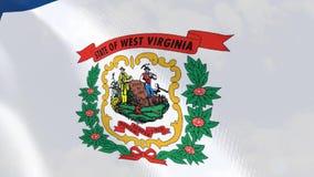 Ρεαλιστική ζωτικότητα σημαιών της δυτικής Βιρτζίνια διανυσματική απεικόνιση