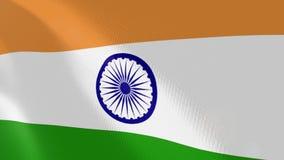 Ρεαλιστική ζωτικότητα σημαιών της Ινδίας ελεύθερη απεικόνιση δικαιώματος