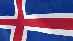 Ρεαλιστική ζωτικότητα σημαιών της Ισλανδίας ελεύθερη απεικόνιση δικαιώματος