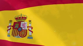 Ρεαλιστική ζωτικότητα σημαιών της Ισπανίας ελεύθερη απεικόνιση δικαιώματος