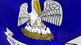 Ρεαλιστική ζωτικότητα σημαιών της Λουιζιάνας διανυσματική απεικόνιση
