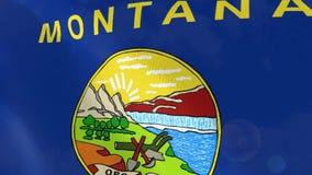 Ρεαλιστική ζωτικότητα σημαιών της Μοντάνα διανυσματική απεικόνιση