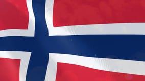 Ρεαλιστική ζωτικότητα σημαιών της Νορβηγίας ελεύθερη απεικόνιση δικαιώματος