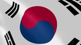 Ρεαλιστική ζωτικότητα σημαιών της Νότιας Κορέας απεικόνιση αποθεμάτων