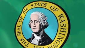 Ρεαλιστική ζωτικότητα σημαιών της Ουάσιγκτον ελεύθερη απεικόνιση δικαιώματος