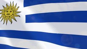 Ρεαλιστική ζωτικότητα σημαιών της Ουρουγουάης ελεύθερη απεικόνιση δικαιώματος