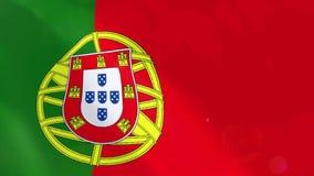 Ρεαλιστική ζωτικότητα σημαιών της Πορτογαλίας ελεύθερη απεικόνιση δικαιώματος