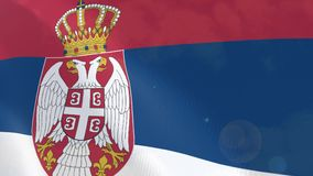 Ρεαλιστική ζωτικότητα σημαιών της Σερβίας απεικόνιση αποθεμάτων