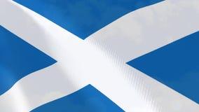 Ρεαλιστική ζωτικότητα σημαιών της Σκωτίας ελεύθερη απεικόνιση δικαιώματος
