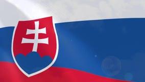 Ρεαλιστική ζωτικότητα σημαιών της Σλοβακίας διανυσματική απεικόνιση