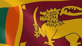 Ρεαλιστική ζωτικότητα σημαιών της Σρι Λάνκα ελεύθερη απεικόνιση δικαιώματος