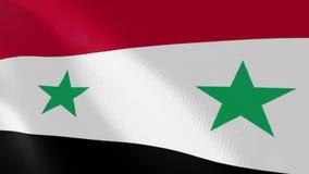 Ρεαλιστική ζωτικότητα σημαιών της Συρίας ελεύθερη απεικόνιση δικαιώματος