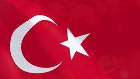 Ρεαλιστική ζωτικότητα σημαιών της Τουρκίας απεικόνιση αποθεμάτων