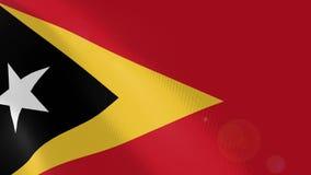 """Ρεαλιστική ζωτικότητα σημαιών Ï""""Î¿Ï… Ανατολικού Τιμόρ απεικόνιση αποθεμάτων"""