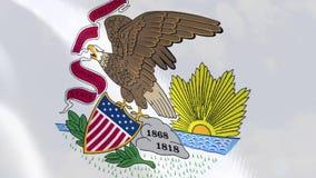"""Ρεαλιστική ζωτικότητα σημαιών Ï""""Î¿Ï… Ιλλινόις ελεύθερη απεικόνιση δικαιώματος"""