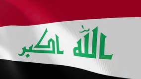 """Ρεαλιστική ζωτικότητα σημαιών Ï""""Î¿Ï… Ιράκ ελεύθερη απεικόνιση δικαιώματος"""