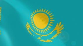 """Ρεαλιστική ζωτικότητα σημαιών Ï""""Î¿Ï… Καζακστάν απεικόνιση αποθεμάτων"""