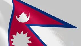 """Ρεαλιστική ζωτικότητα σημαιών Ï""""Î¿Ï… Νεπάλ απεικόνιση αποθεμάτων"""