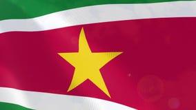 """Ρεαλιστική ζωτικότητα σημαιών Ï""""Î¿Ï… Σουρινάμ ελεύθερη απεικόνιση δικαιώματος"""
