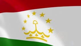 """Ρεαλιστική ζωτικότητα σημαιών Ï""""Î¿Ï… Τατζικιστάν διανυσματική απεικόνιση"""