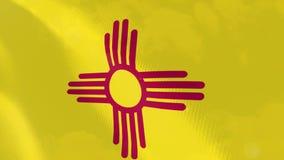 """Ρεαλιστική ζωτικότητα σημαιών Ï""""Î¿Ï… New Mexico απεικόνιση αποθεμάτων"""