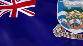 Ρεαλιστική ζωτικότητα σημαιών των Νήσων Φώκλαντ ελεύθερη απεικόνιση δικαιώματος