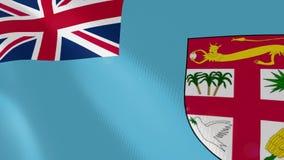 Ρεαλιστική ζωτικότητα σημαιών των Φίτζι ελεύθερη απεικόνιση δικαιώματος