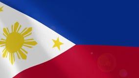 Ρεαλιστική ζωτικότητα σημαιών των Φιλιππινών απεικόνιση αποθεμάτων