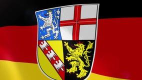 Ρεαλιστική ζωτικότητα σημαιών Saarland απεικόνιση αποθεμάτων